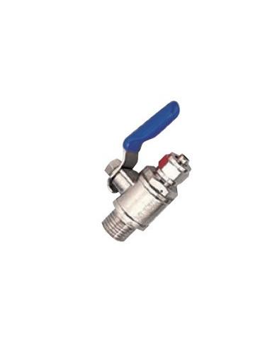 """Grifo metalico para toma de agua equipos Osmosis. Tubo 1/4"""""""