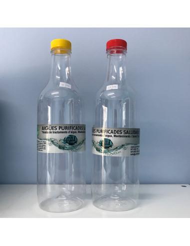 Botella plástico SIN Bisfenol-A (BPA) 1,5 Litros con tapón Normal
