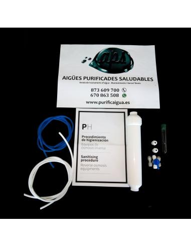 """Kit Higienización Completo para Osmosis con tubo salida 1/4"""""""