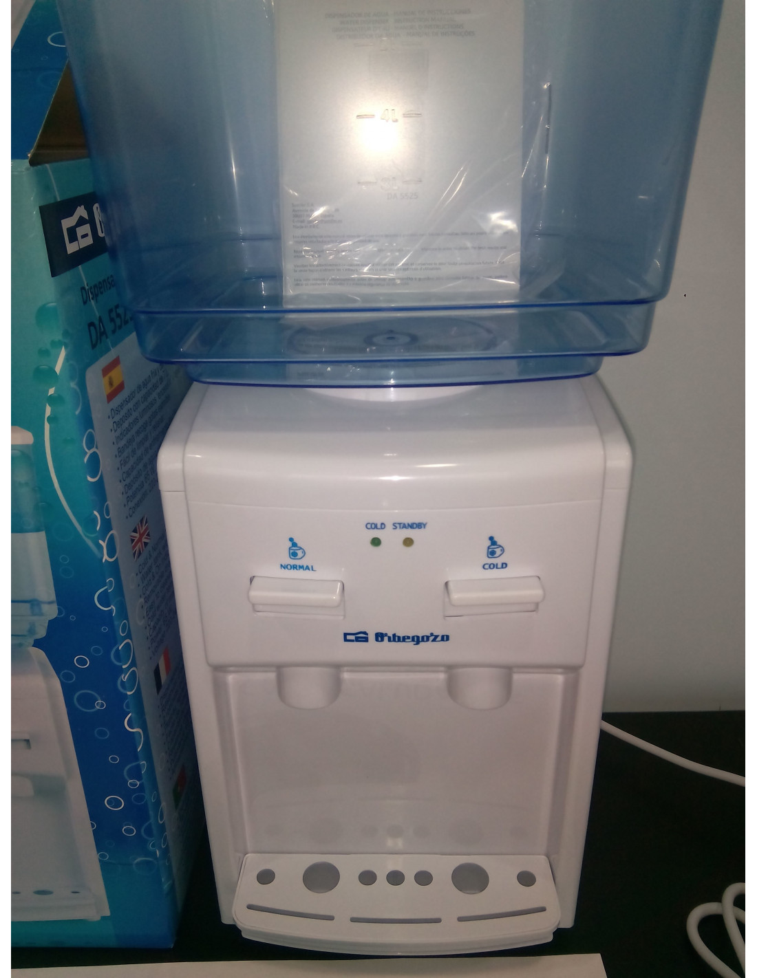 Dispensador de agua fr a orbegozo con deposito 7l aps for Dispensador agua oficina